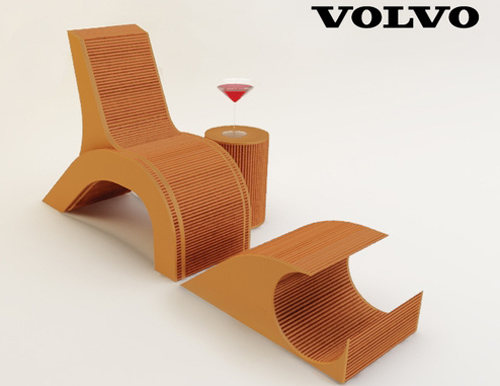 Green Volvo Chair (inspirada en la luz de atrás)